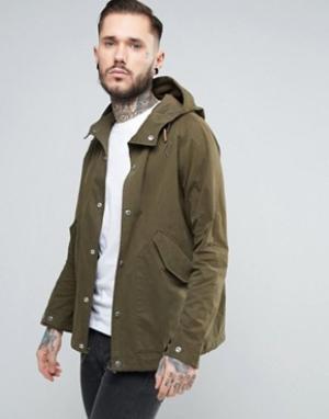 Penfield Зеленая непромокаемая куртка с капюшоном Davenport. Цвет: зеленый