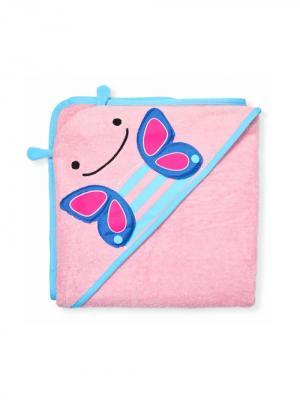 Полотенце детское Бабочка с копюшоном SkipHop. Цвет: синий, голубой, розовый