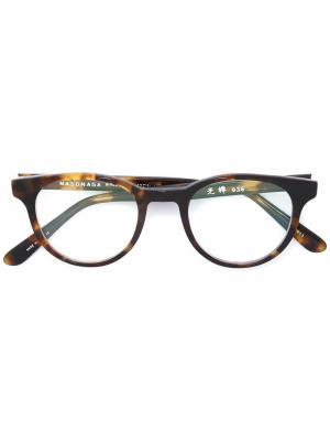Оправа для очков кошачий глаз Masunaga. Цвет: коричневый