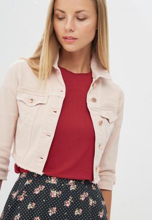 Куртка джинсовая Motivi. Цвет: розовый