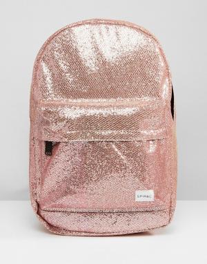 Spiral Рюкзак с блестками. Цвет: розовый