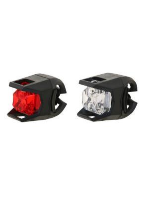 Набор велосипедных фонарей STG. Цвет: черный