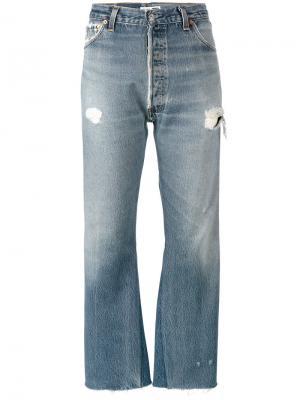 Укороченные джинсы с завышенной талией Originals Re/Done. Цвет: синий