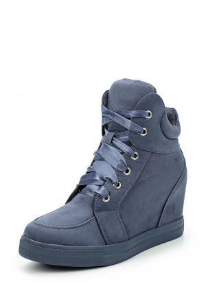 Кеды на танкетке Ideal Shoes. Цвет: синий