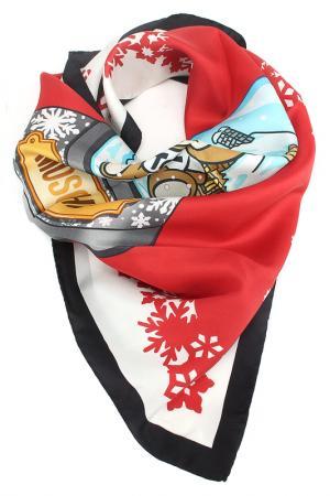 Платок Moschino. Цвет: белый, красный