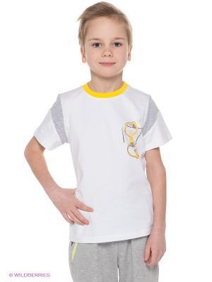 Футболка Goldy. Цвет: белый, серый меланж, желтый