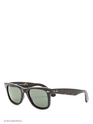 Очки солнцезащитные WAYFARER Ray Ban. Цвет: черный, коричневый