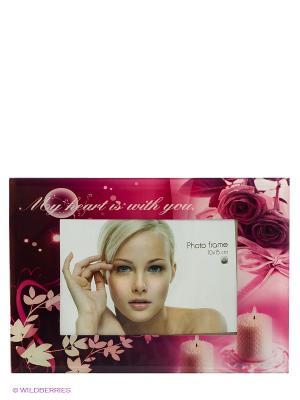 Фоторамка Floral mix VELD-CO. Цвет: розовый