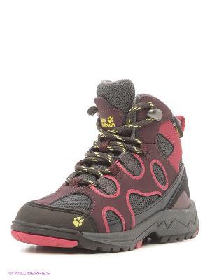 Ботинки CROSSWIND TEXAPORE MID K Jack Wolfskin. Цвет: бордовый, темно-серый
