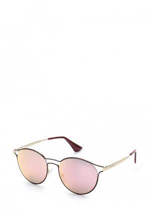 Очки солнцезащитные Prada. Цвет: бордовый