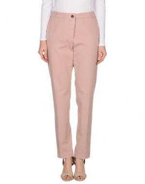 Повседневные брюки CAPPELLINI BY PESERICO. Цвет: розовый
