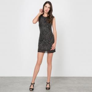 Платье без рукавов облегающее MOLLY BRACKEN. Цвет: черный