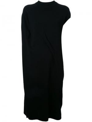 Асимметричное платье с запахом Enföld. Цвет: чёрный