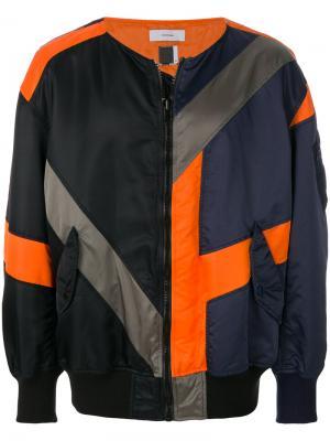 Куртка-бомбер в стиле пэчворк Facetasm. Цвет: чёрный
