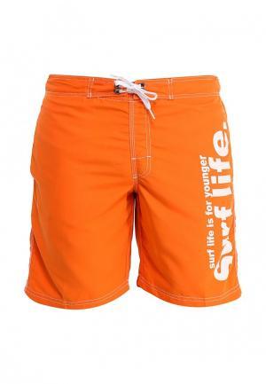 Шорты для плавания Sela. Цвет: оранжевый