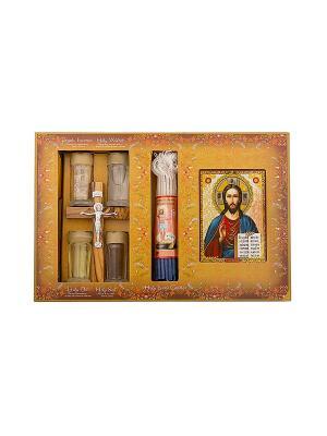 Набор паломника с ликом Иисуса  Христа Holy Land Collections. Цвет: бежевый