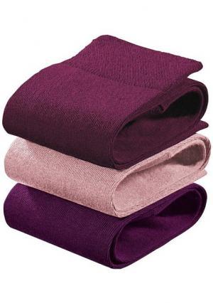 Гольфы, 3 пары. Цвет: 2х темно-серый+серый меланжевый, 3х темно-синий, 3х черный, дымчато-розовый+лиловый+малиновый, серый меланжевый+джинсовый меланжевый+бежевый