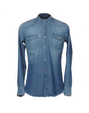 Джинсовая рубашка MESSAGERIE. Цвет: синий