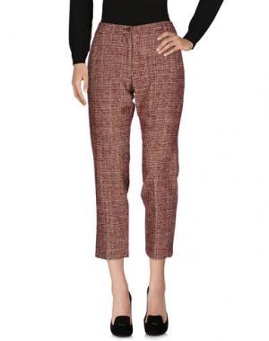 Повседневные брюки LAURA URBINATI. Цвет: кирпично-красный