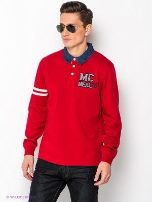 Лонгслив-поло MC NEAL. Цвет: красный