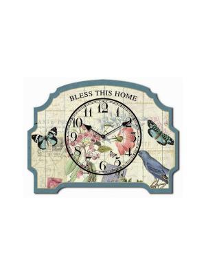 Часы настольные Порхающие бабочки Magic Home. Цвет: бежевый