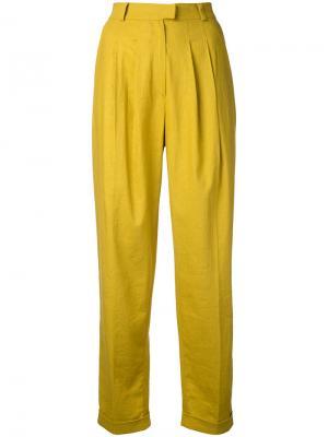 Классические брюки N Duo. Цвет: жёлтый и оранжевый