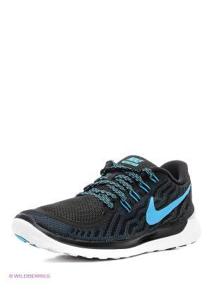 Кроссовки Nike Free 5.0. Цвет: черный, голубой