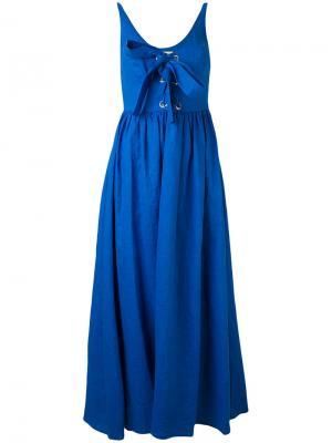 Платье-шифт Mara Hoffman. Цвет: синий