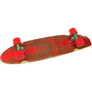 Скейт круизер  Rose Red/Green 7.6 x 29.5 (75 см) Юнион. Цвет: зеленый,красный