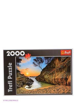 Пазл Восход солнца, Коста-Брава, Испания 2000 деталей Trefl. Цвет: коричневый, оранжевый, желтый, синий, черный