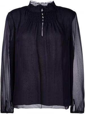 Блузка Lenis Dvf Diane Von Furstenberg. Цвет: синий