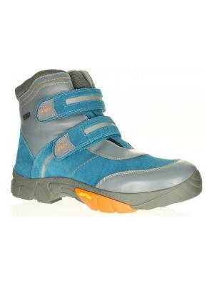 Ботинки Bartek. Цвет: голубой,серый