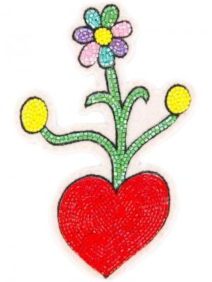 Заплатка на липучке в виде цветка Olympia Le-Tan. Цвет: многоцветный