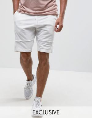 Brooklyn Supply Co. Трикотажные шорты с декоративными швами Co. Цвет: белый