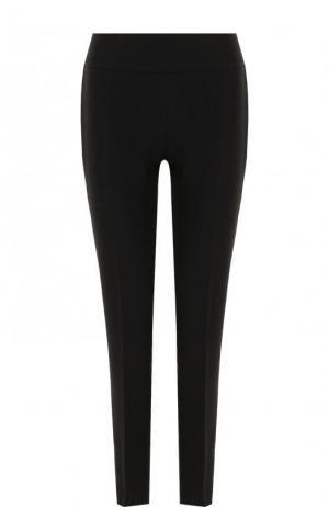 Однотонные шерстяные брюки прямого кроя BOSS. Цвет: черный