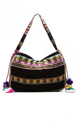 Пляжная сумка inca Pitusa. Цвет: черный