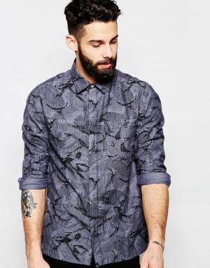 Addict Рубашка из шамбре Kwills Edition. Цвет: черный