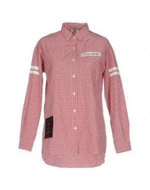 Pубашка FOLLOW US. Цвет: красный