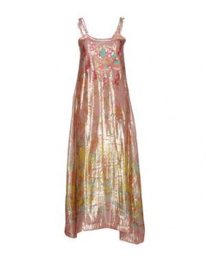 Длинное платье EMAMÒ. Цвет: розовый