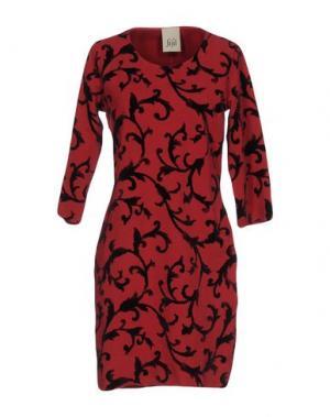 Короткое платье JIJIL. Цвет: кирпично-красный