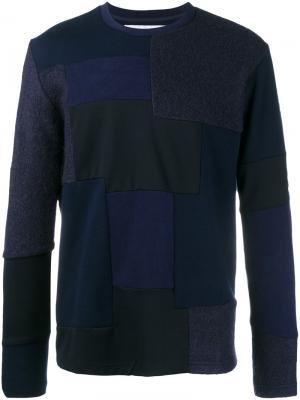 Лоскутный свитер White Mountaineering. Цвет: none