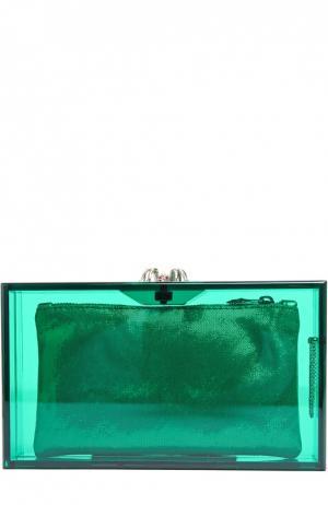 Клатч Pandora Colour Charlotte Olympia. Цвет: зеленый