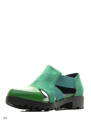Туфли CHEZOLINY. Цвет: зеленый