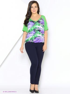 Блузка SVESTA. Цвет: зеленый, фиолетовый