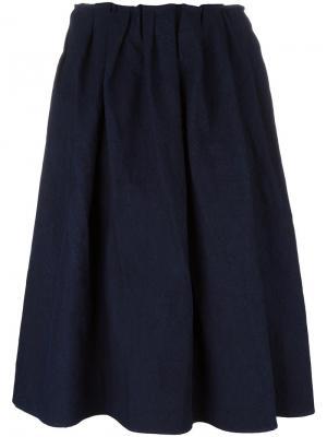 Широка юбка миди Apuntob. Цвет: синий