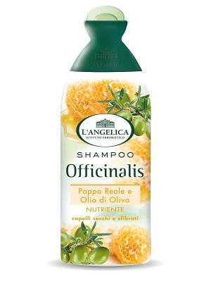 Шампунь ПИТАТЕЛЬНЫЙ для сух. и поврежд. волос с маточным молочк оливк маслом 250м L'Angelica. Цвет: белый