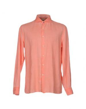Pубашка DOMENICO TAGLIENTE. Цвет: лососево-розовый