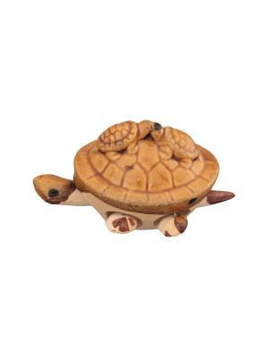 Фигурка декоративная 3 черепашки Elan Gallery. Цвет: светло-коричневый