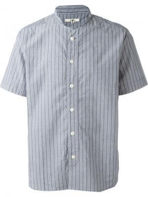 Рубашка Furies в полоску YMC. Цвет: синий