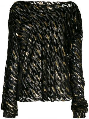 Блузка с блестящей отделкой Alexandre Vauthier. Цвет: чёрный